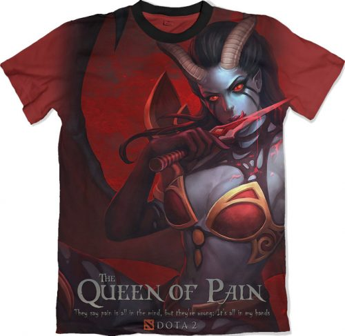 Queen of Pain - Dota 2 tshirt kaos baju distro anime kartun jepang