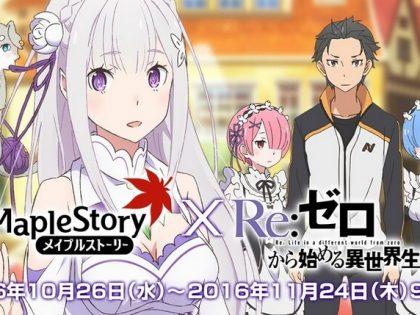 Game Online 'Maple Story' Bekerja Sama Dengan Seri 'Re:Zero'