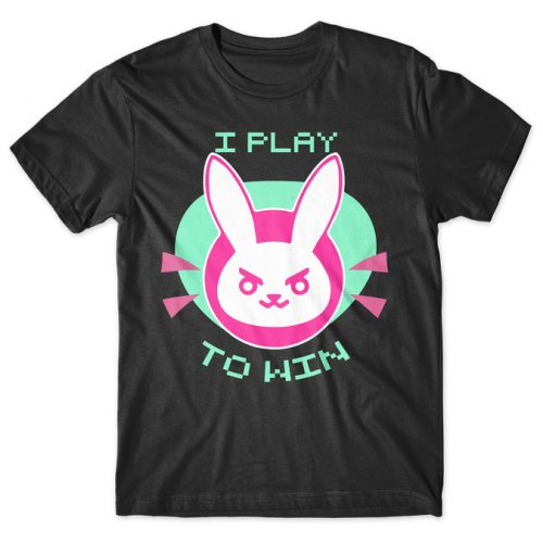 D.Va I Play to Win - Overwatch tshirt kaos baju distro anime kartun jepang