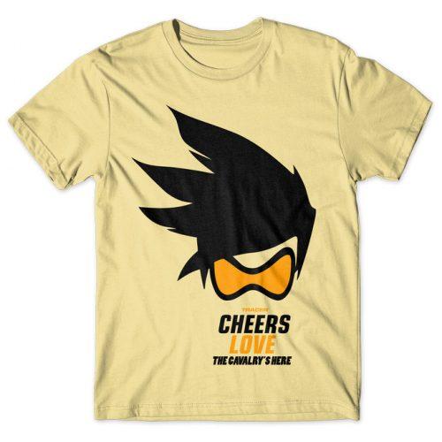 Tracer Cheers Love - Overwatch tshirt kaos baju distro anime kartun jepang