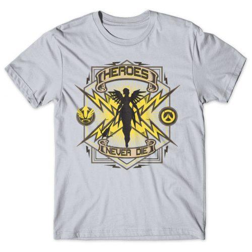 Mercy Heroes Never Die - Overwatch tshirt kaos baju distro anime kartun jepang