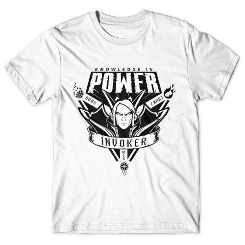 Invoker Knowledge Is Power - Dota 2 tshirt kaos baju distro anime kartun jepang