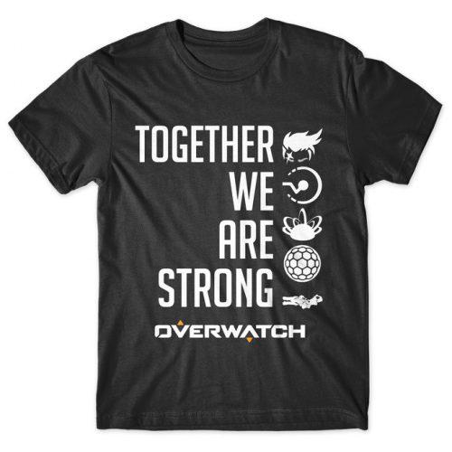 Zarya Together We Are Strong - Overwatch tshirt kaos baju distro anime kartun jepang