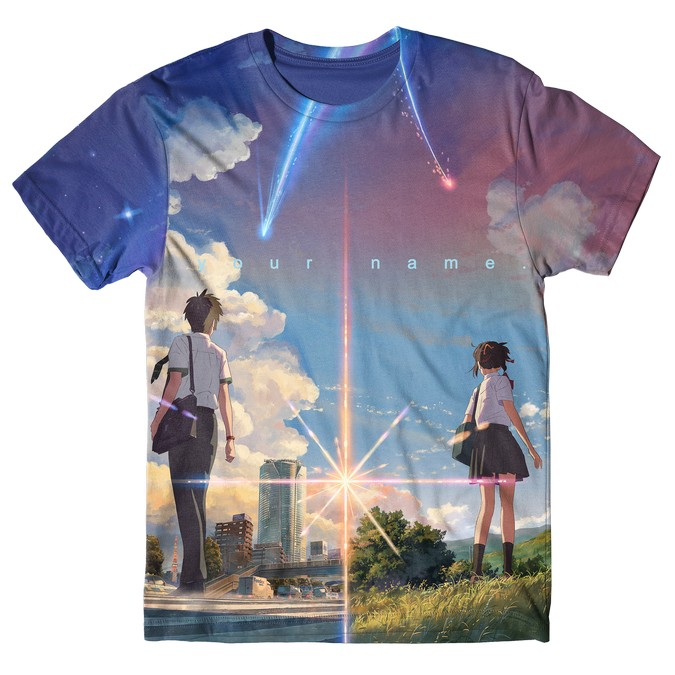 Your Name/Kimi No Na Wa Full Graphic T-Shirt tshirt kaos baju distro anime kartun jepang