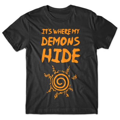 It's Where My Demons Hide - Naruto tshirt kaos baju distro anime kartun jepang