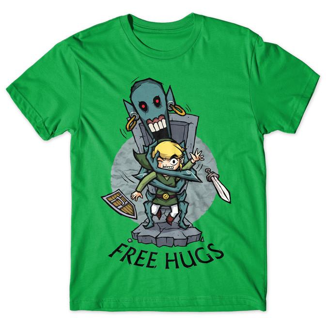 Free Hugs - Zelda Wind Waker tshirt kaos baju distro anime kartun jepang